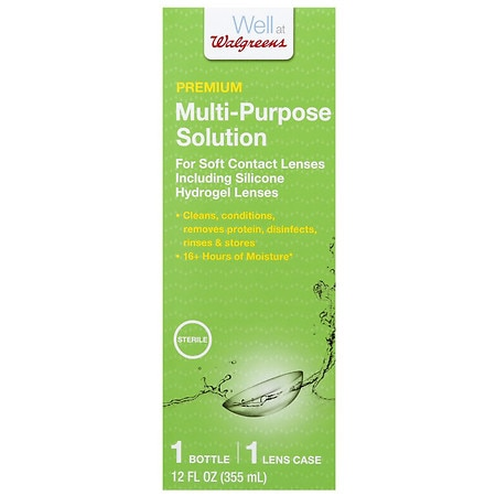 Walgreens Premium Multi-Purpose Solution With Lens Case - 12 fl oz