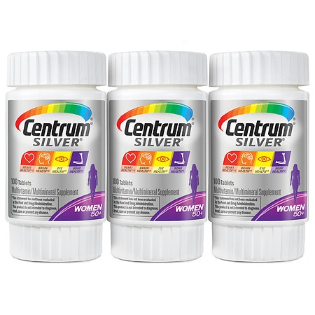 Centrum Silver Women Complete Multivitamin & Multimineral Supplement Tablets - 100.0 ea x 3 pack
