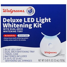 Walgreens Deluxe Led Light Whitening Kit Peppermint Walgreens