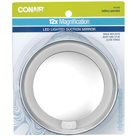 Conair 12x Magnification Dome Lighted, How To Replace Bulb In Revlon Makeup Mirror