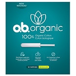 o.b. organic Feminine Care. Made from 100% organic cotton from tip to string.