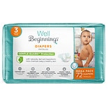 Well Beginnings Premium Diapers Size 3