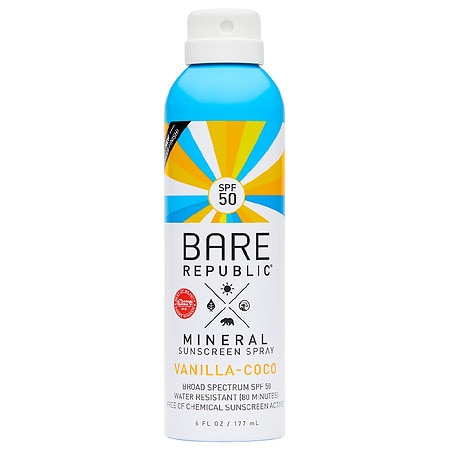Bare Republic Mineral SPF 50 Vanilla-Coco Sunscreen Spray - 6 fl oz