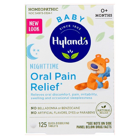 Hyland's Baby Nighttime Oral Pain Relief Tabs - 125 ea