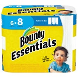 Bounty Essentials Select-A-Size Paper Towels Big Rolls White