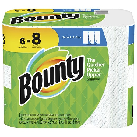 Bounty Select-A-Size Paper Towels Big Rolls - 74 ea x 6 pack