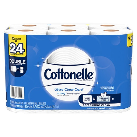 Cottonelle Toilet Paper, Strong Bath Tissue - 170.0 ea x 12 pack