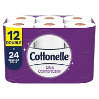 Deals on Cottonelle Toilet Paper 12 Double Rolls Soft Bath Tissue