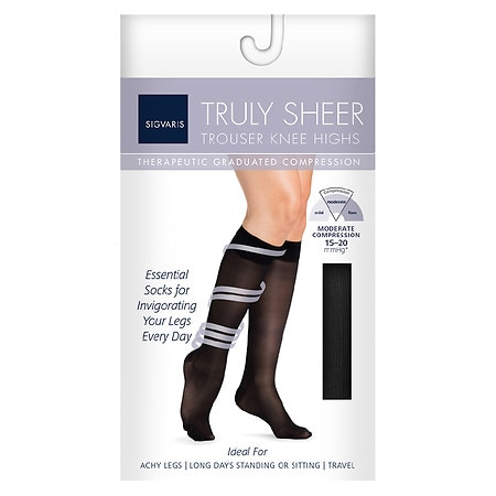 Sigvaris Women's Truly Sheer Trouser Knee Highs 15-20 mmHg - 1 ea