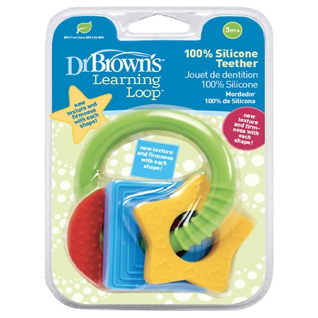 Dr. Brown's 100% Silicone Learning Loop Baby Teether - 1 ea