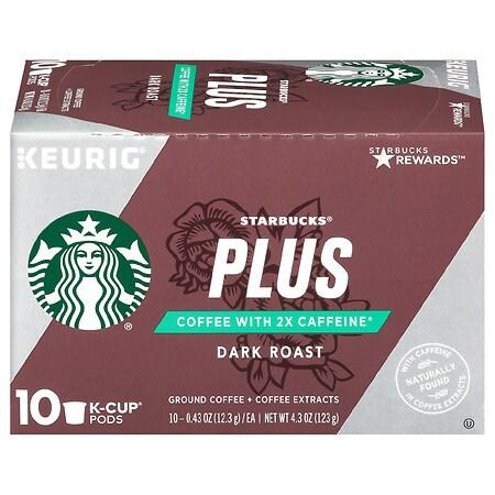 0075d02c112 Starbucks Plus Dark Roast Ground Coffee + Coffee Extracts K-Cup Pods0.43 oz  x 10 pack