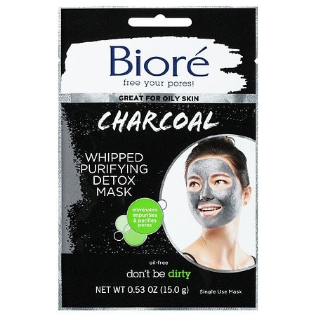 Biore Charcoal Whipped Mask - 0.53 oz.