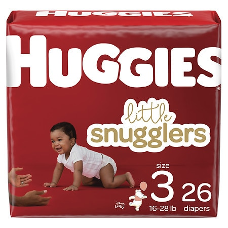 Huggies Little Snugglers Diapers, Size 3 - 26 ea