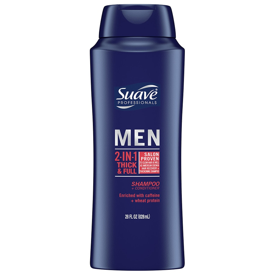 Suave Men Thick & Full 2 in 1 Shampoo and Conditioner