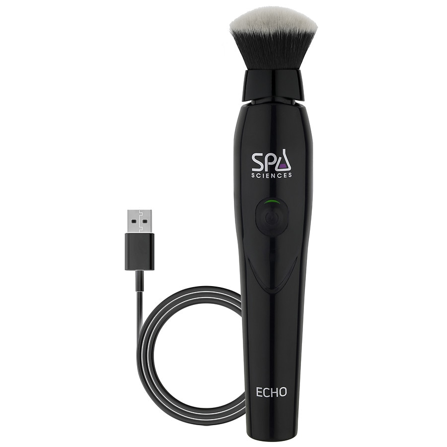 Spa Sciences ECHO Antimicrobial Sonic Makeup Brush, Black