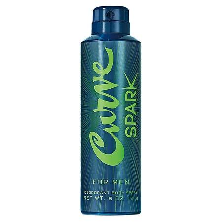 Curve Spark Body Spray for Men - 6.0 oz
