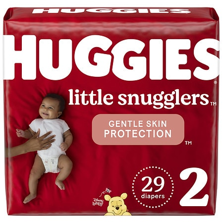 Huggies Little Snugglers Baby Diapers, Size 2 - 29 ea
