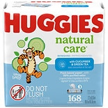 Huggies Refreshing Clean Scented Baby Wipes, Disposable Soft Pack, Alcohol-Free Cucumber & Green Tea