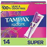 Tampax Radiant Tampons Super Absorbency