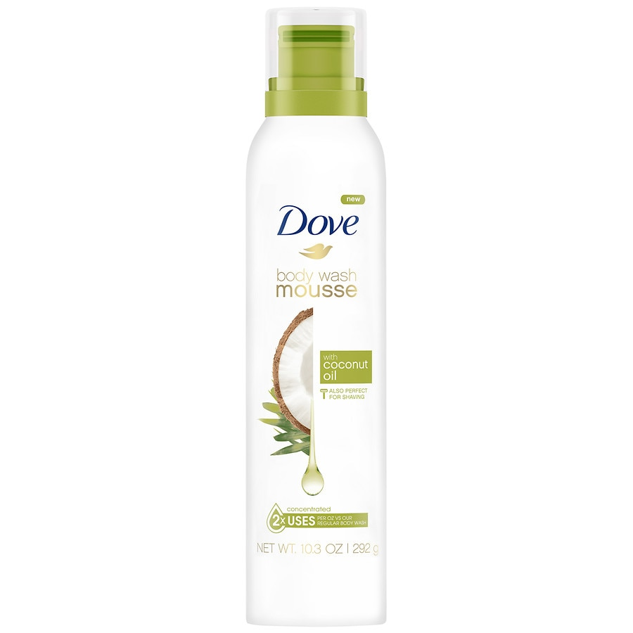 Dove With Coconut Oil Body Wash Mousse Walgreens