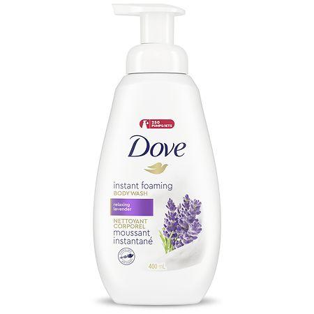 Dove Foaming Body Wash, Relaxing Lavender - 13.5 fl oz