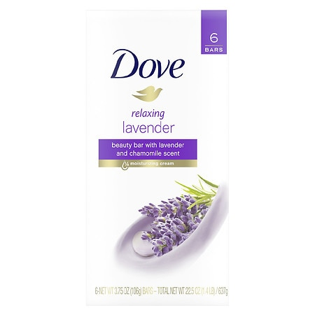 Dove Purely Pampering Beauty Bar - 3.75 oz x 6 pack