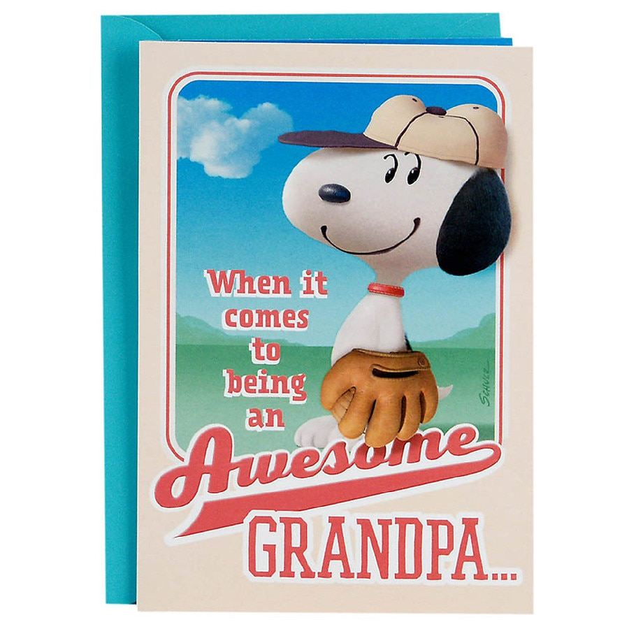 Hallmark Peanuts Fathers Day Card For Grandpa From Kids