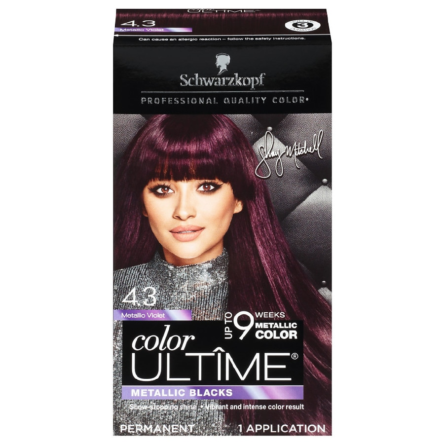 a603ba895c5529 Schwarzkopf Color Ultime Metallic Permanent Hair Color Cream, Metallic  Violet5.7 oz