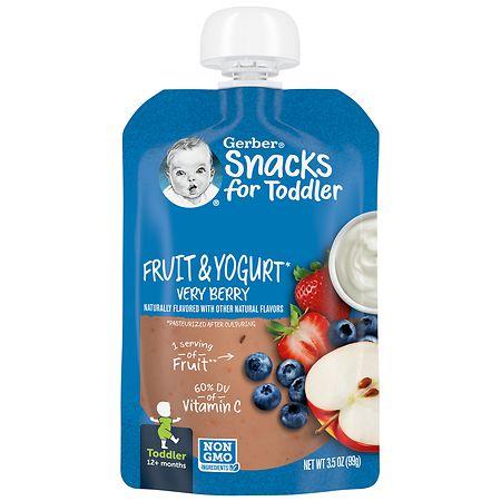 Gerber Toddler Pouches Fruit & Yogurt Very Berry - 3.5 oz