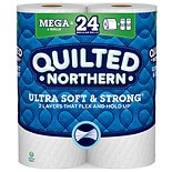 Quilted Northern Ultra Soft & Strong Toilet Paper, 6 Rolls, Bath Tissue