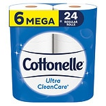 Cottonelle Ultra CleanCare Toilet Paper, Strong Bath Tissue, Septic-Safe