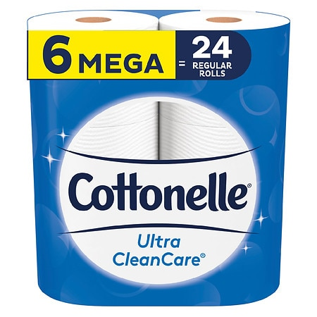 Cottonelle Clean Care 340 Sheet Toilet Paper - Mega Roll