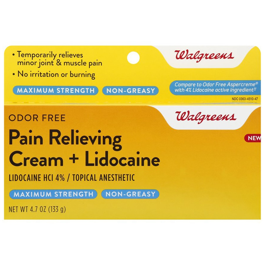 Walgreens Pain Relief Cream With Lidocaine Walgreens