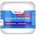 Walgreens Emu Muscle & Joint Relief. Super Strength, Odor Free.