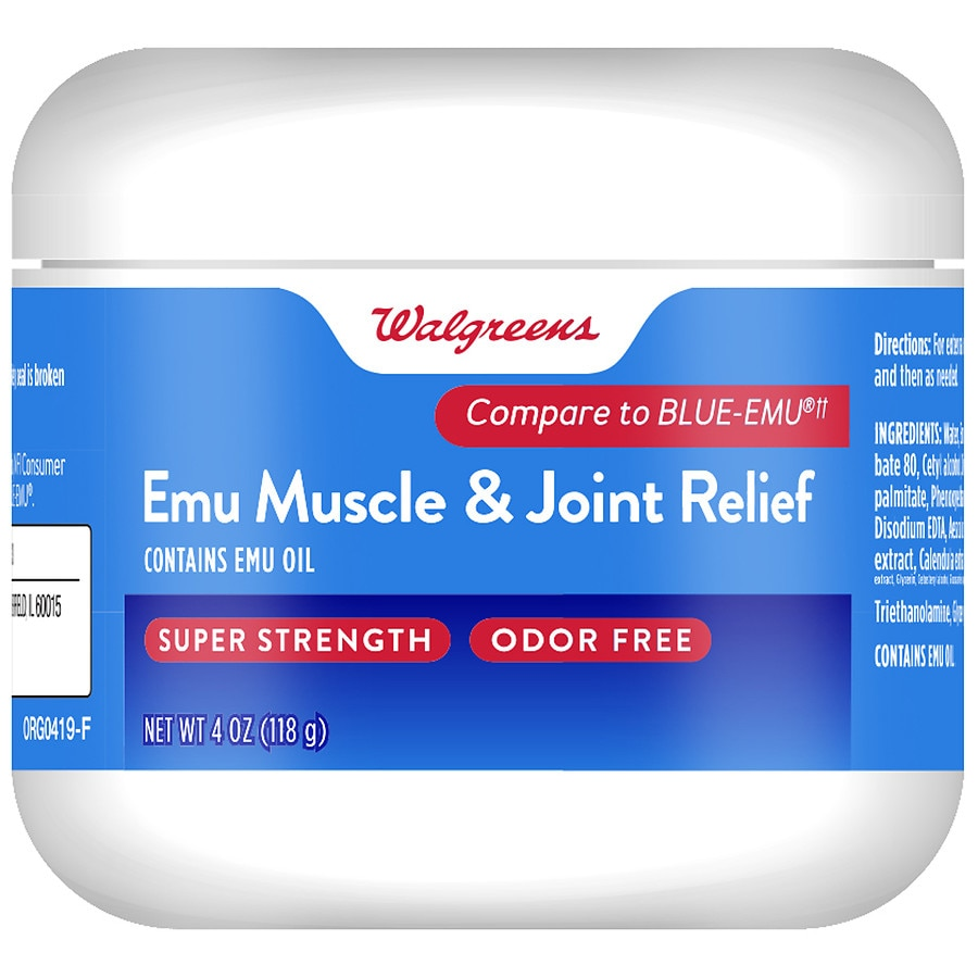 Walgreens Emu Muscle Joint Relief Odor Free Walgreens