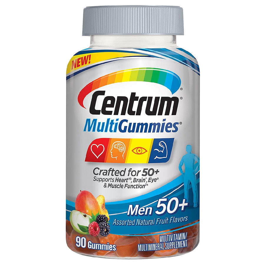 Centrum Mens 50 Multigummies Multivitamin Supplement Gummies Walgreens