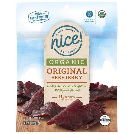 Nice! Organic Beef Jerky Original - 3.0 oz