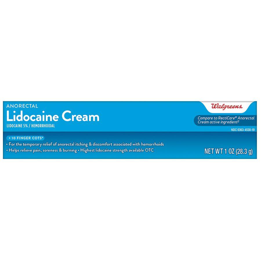 Walgreens Anorectal Lidocaine Cream Walgreens