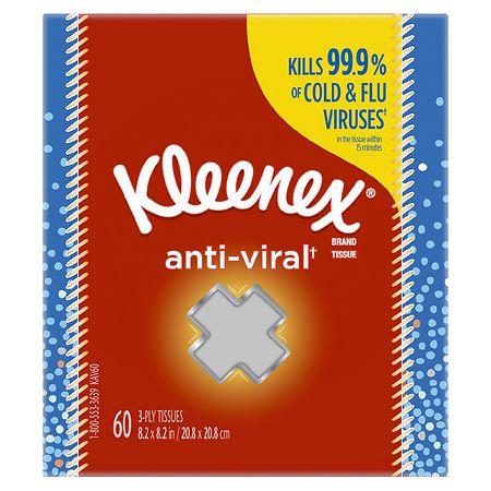 Kleenex Facial Tissues, Cube Box - 60.0 ea