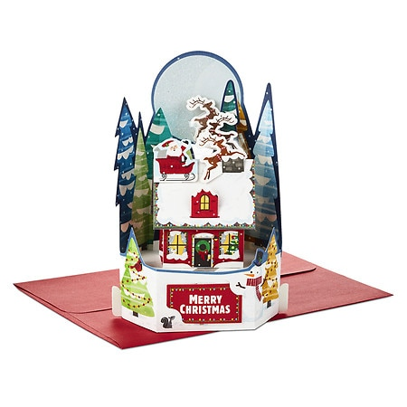 Walgreens Christmas Card.Hallmark Paper Wonder Pop Up Christmas Card Santa S Delivery