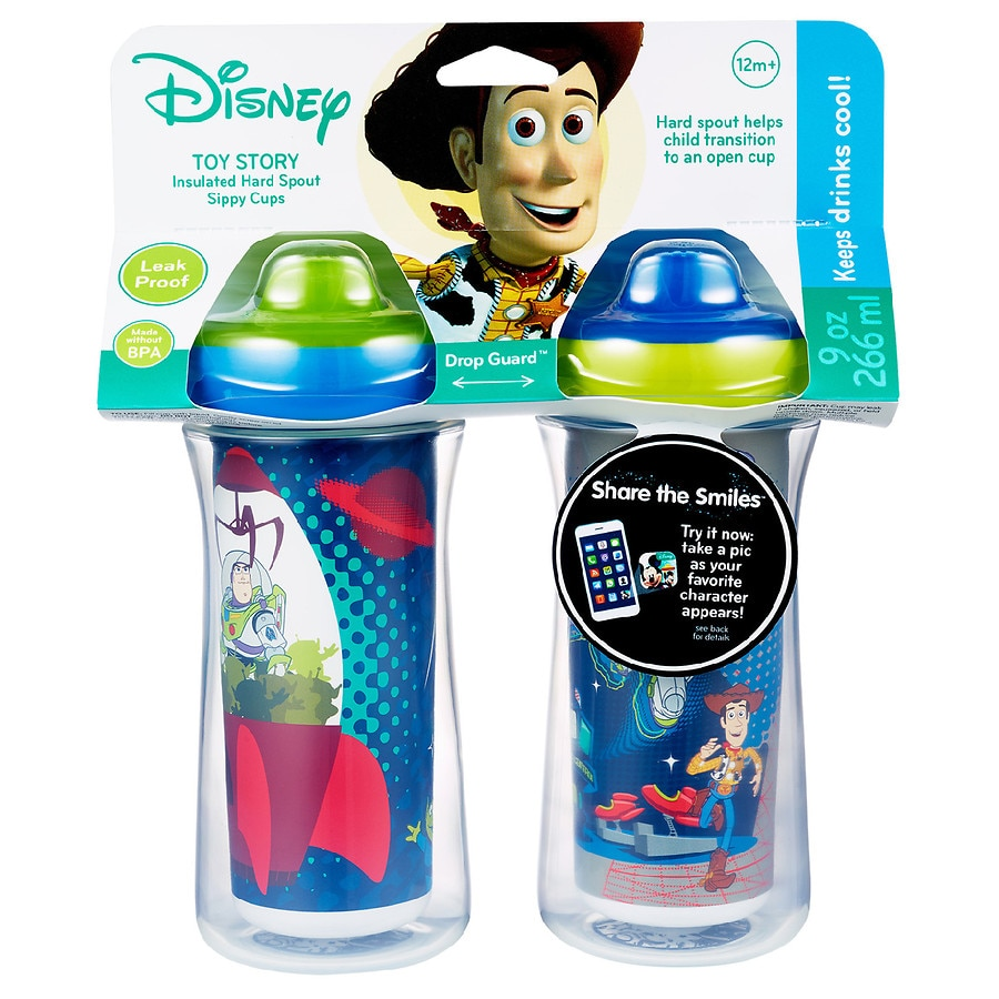 The First Years Disney Pixar Toy Story Insulated Sippy Cup 9 Oz Baby Cup 2pk