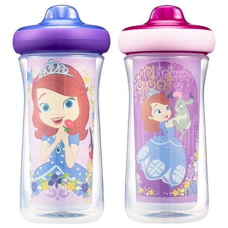 Image of The First Years Disney Sofia Insulated Hard Spout Sippy Cups - 9.0 oz x 2 pack