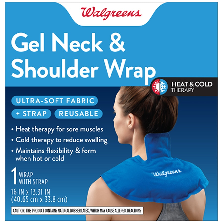 Walgreens Reusable Hot & Cold Gel Neck & Shoulder Wrap Blue | Walgreens