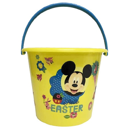 Easter Licensed Plastic Bucket Mickey Mouse Assortment - 1.0 ea