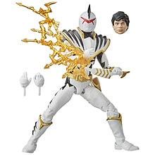 Power Rangers Lightning Collection Dino Thunder White Ranger Dino Charge Black