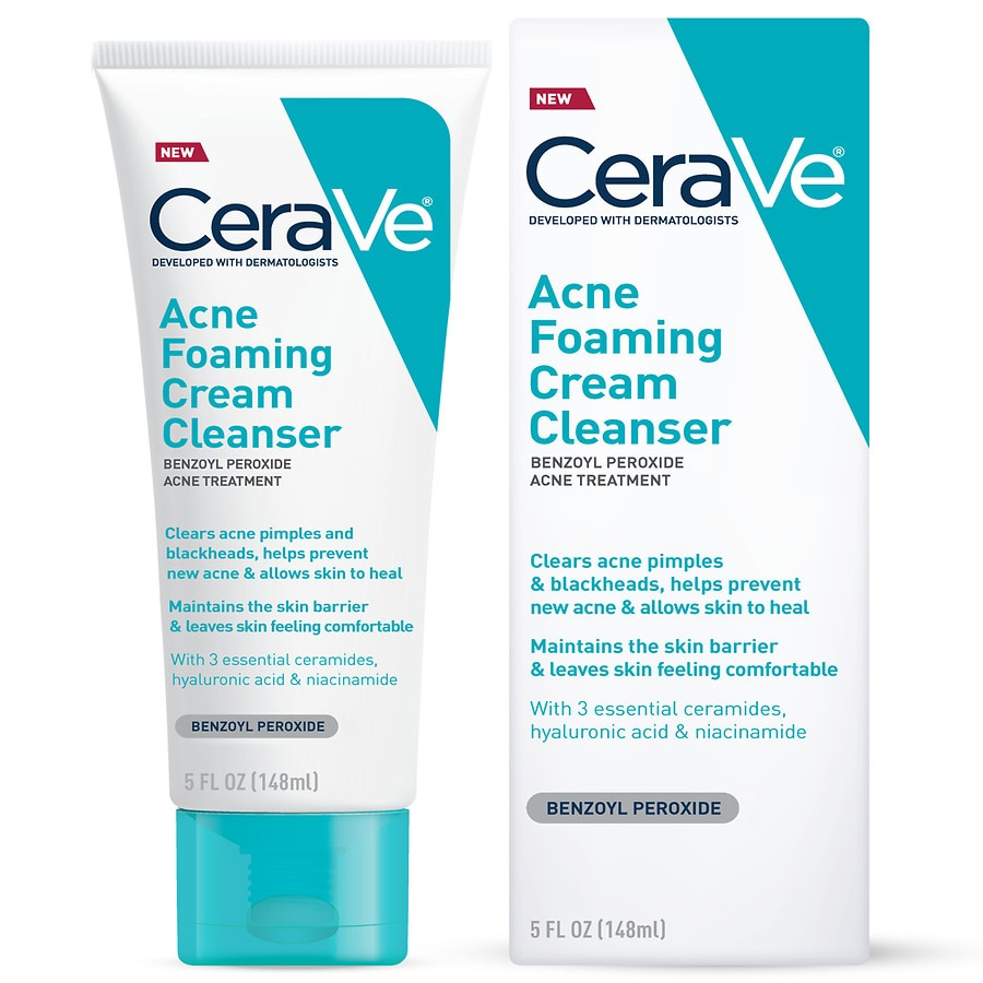 Cerave Acne Foaming Cream Face Cleanser For Sensitive Skin Walgreens