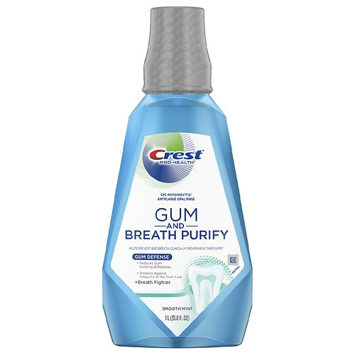 3-Pack Crest Gum & Breath Purify Rinse Smooth Mint 33.8oz