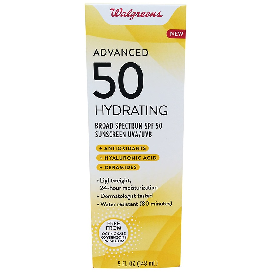 Walgreens Advanced Sun Hydrate Lotion Spf50 Walgreens