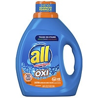 Deals on All Liquid Laundry Detergent w/OXI Stain Removers 88oz