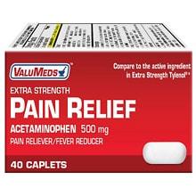 Valumeds Extra Strength Acetaminophen Pain Relief Caplets